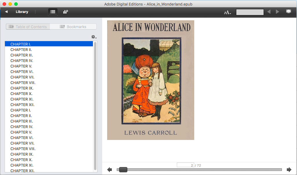 Cover of Alice in Wonderland in ADE
