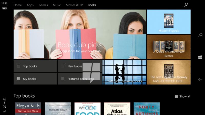 books in the windows store screenshot